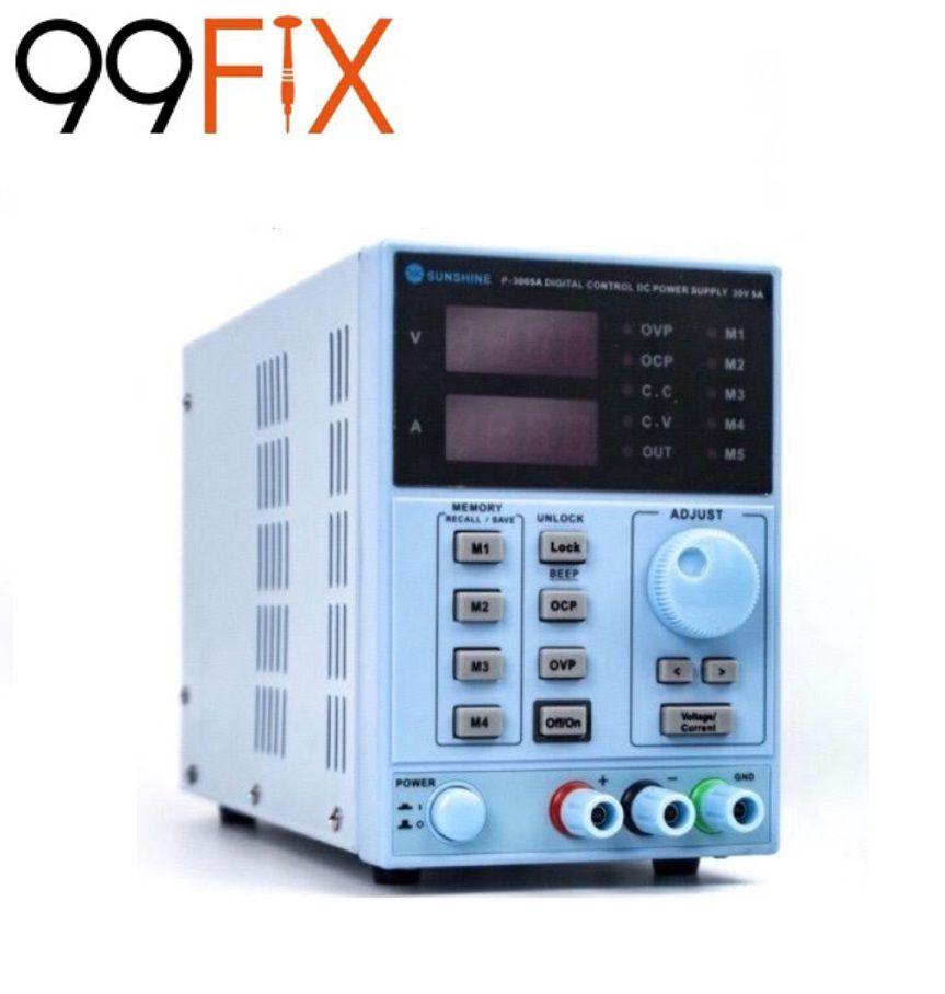 SUNSHINE P-3005A Fonte de alimentação Dc programável digital  0-30v 0-5a 110V