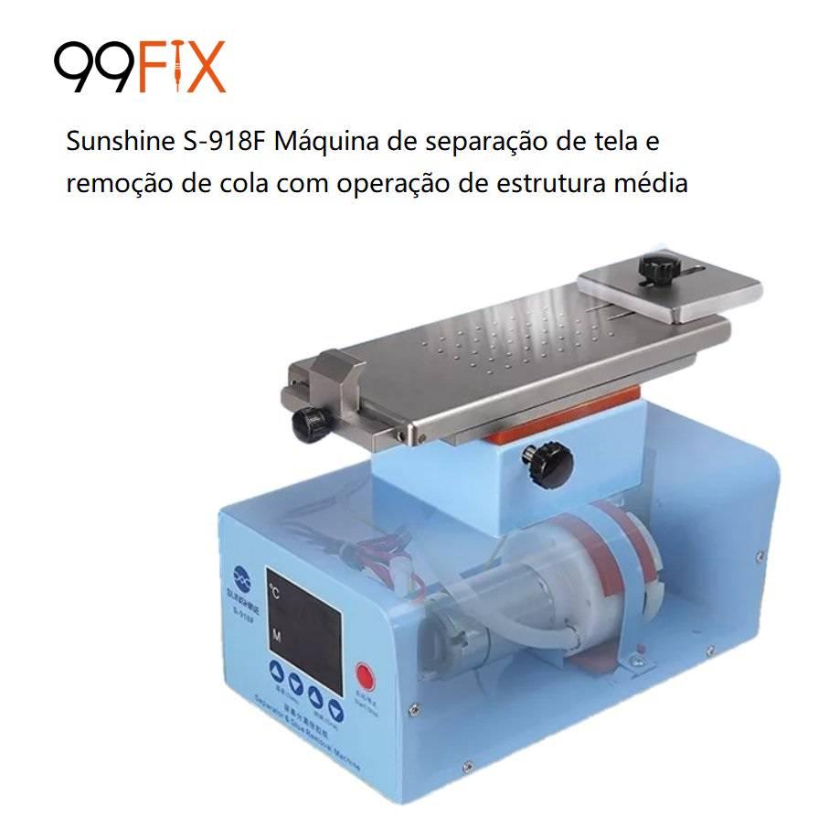 Sunshine S-918F Máquina de separação de tela e remoção de cola com operação de estrutura média 110V/220V