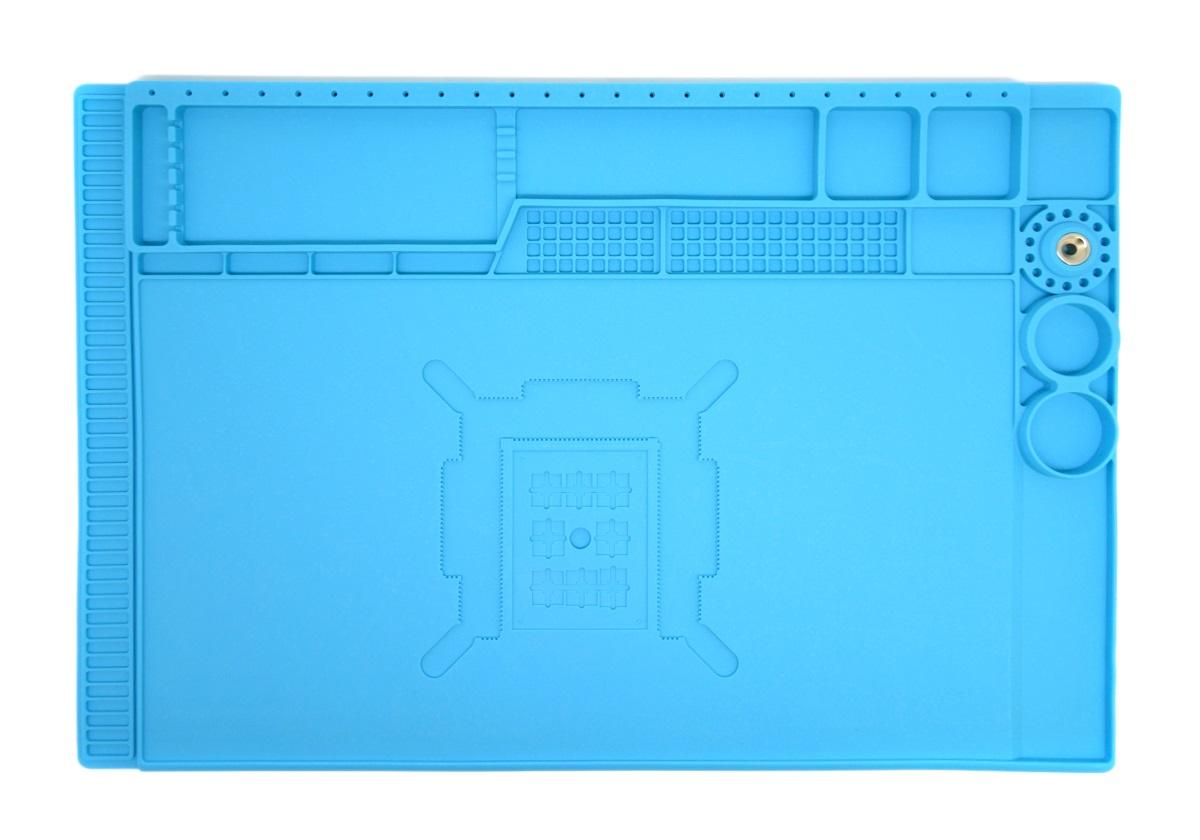 Sunshine SS-004E  Tapete De Solda Resistente Ao Calor Silicone Anti-estática para reparo do telefone móvel (Azul)