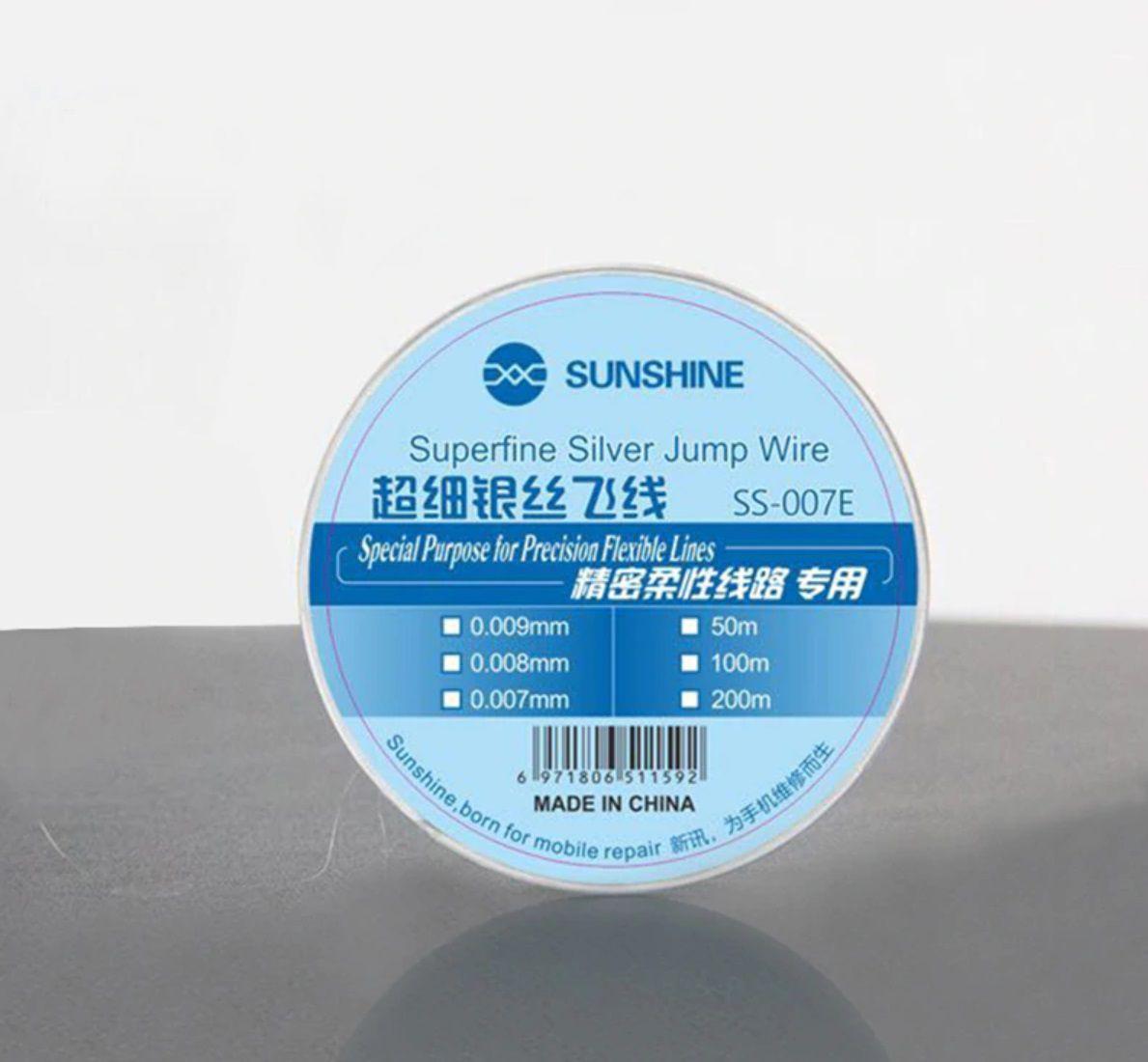 Sunshine Ss-007E Fio Jumper Reparo Placa Celular Super Fino 0.007mm X 200m