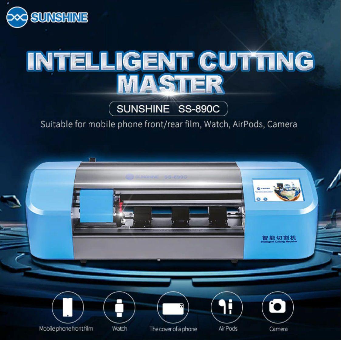 Sunshine SS-890C A máquina de corte de Películas automática e flexível para celular, tablet e capa traseira