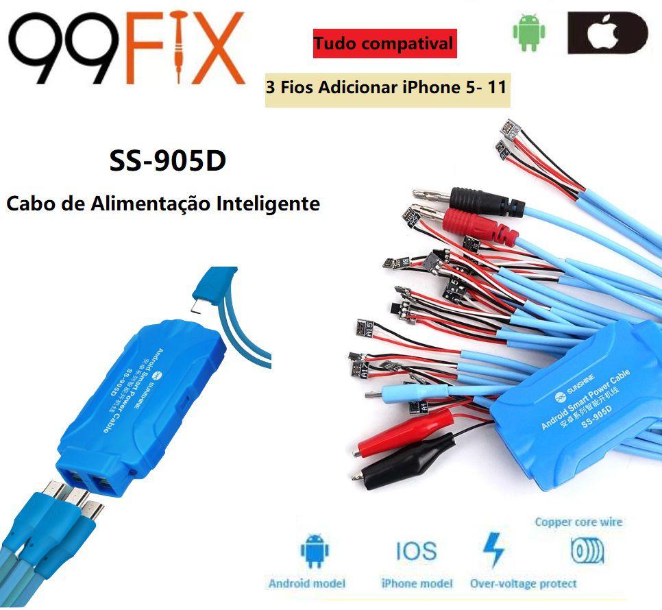 Sunshine SS-905D Cabo de inicialização inteligente para iphone 5-11 pro max / Samsung / Huawei ... etc