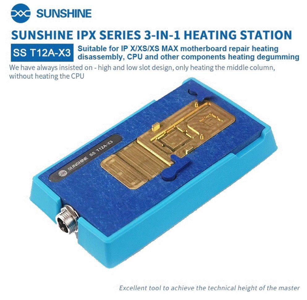Sunshine SS T12A-X3 Slot da estação de aquecimento para iPhone X / XS / XS MAX placa-mãe reparar desmontagem de aquecimento, CPU e outros componentes degomação de aquecimento