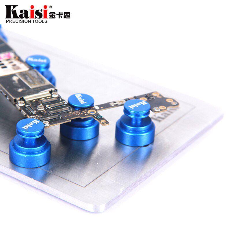 Suporte magnético universal do PCB da placa da lógica de Kaisi para o reparo do telefone móvel / Suporte Universal (Azul)