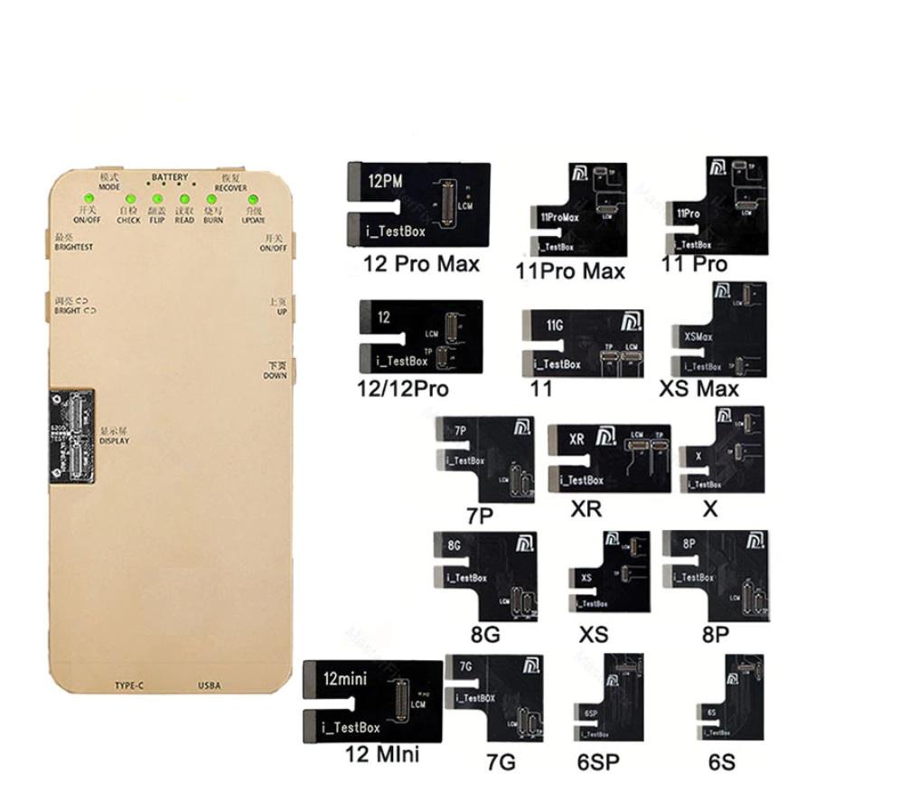 Testador multifuncional de toque de tela para iPhone 6S - 12 promax DL S200 iTestBox