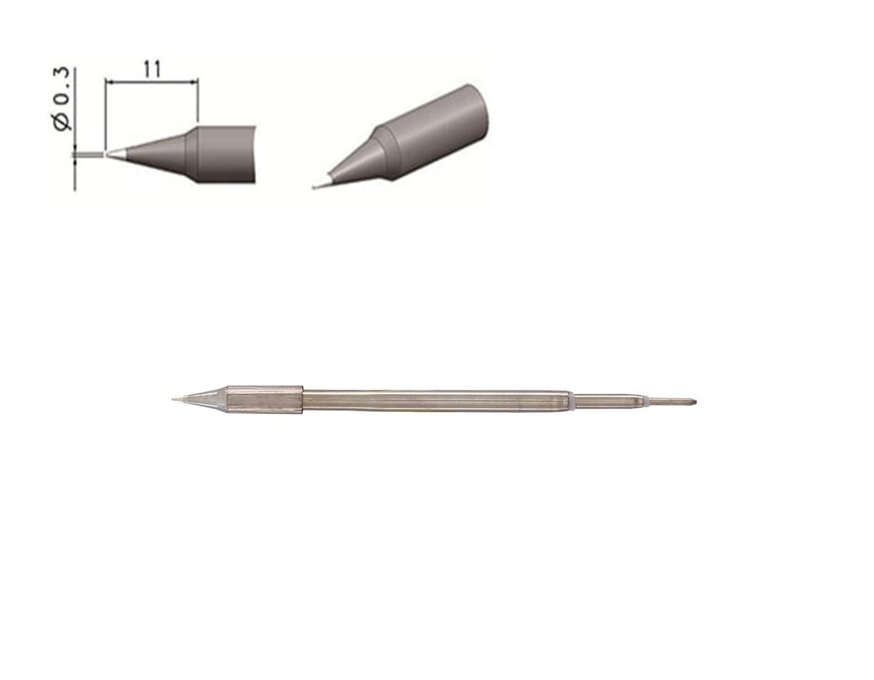 Toor T12-i0.3 Ponta Ferro de Solda Reta para Toor/ Tool T12-11