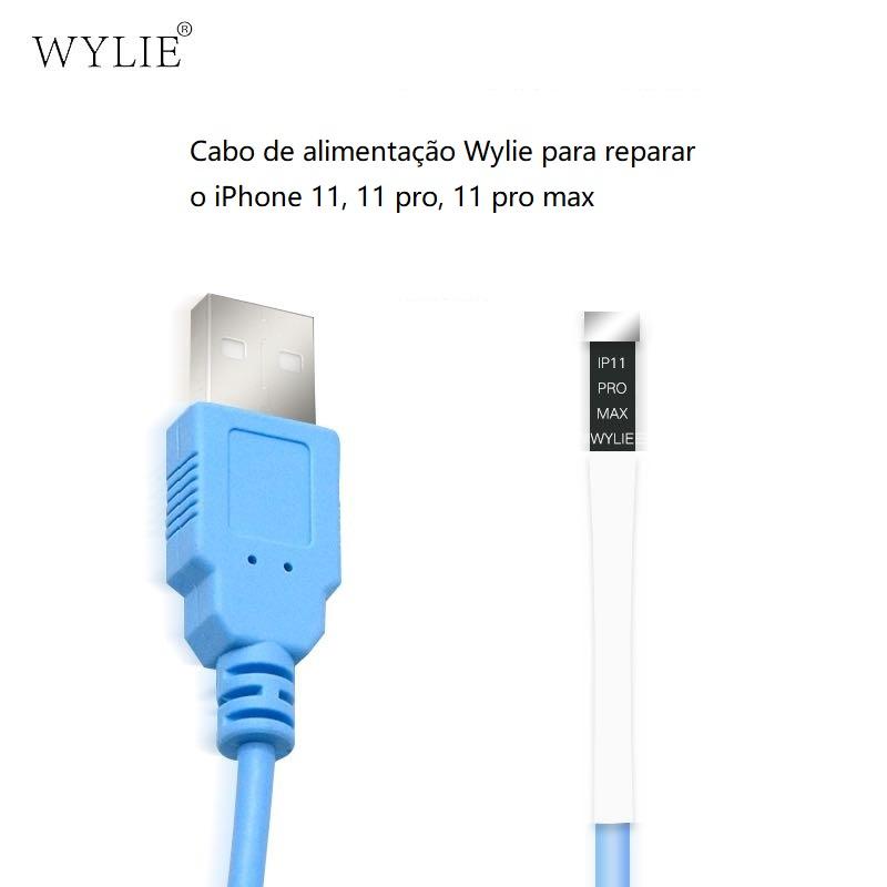 Wylie Cabo de alimentação para reparar o iPhone 11, 11 pro, 11 pro max--Compatível com: Qianli ipower max, Mechanic iboot etc.