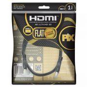 Cabo Hdmi Flat Pix 2.0 19 Pinos - 4K (1 Metro )