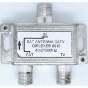 Diplexer(Combiner)  VHF / UHF X  Satélite  40-2150MHz