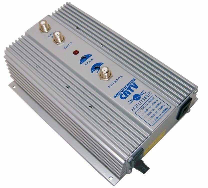 Amplificador para Antena Coletiva  CATV 54-1000MHZ 35DB