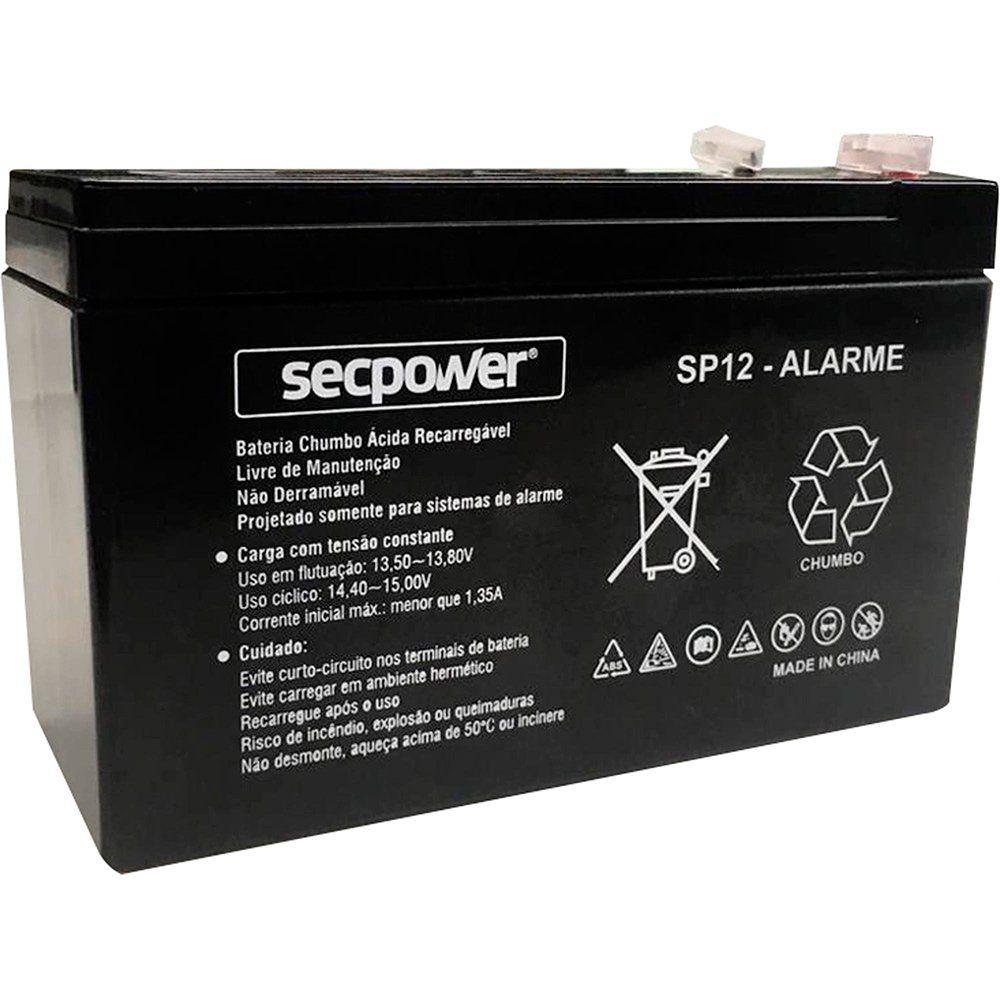 Bateria Selada 12V 7A P/ Alarmes Residenciais e Cercas Elétricas