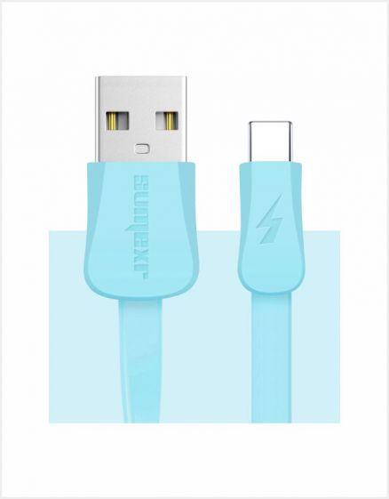 CABO USB DE CELULAR 1M TYPE-C AZUL