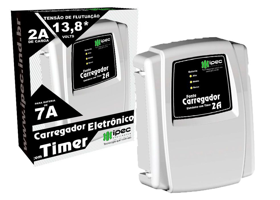 Carregador Eletrônico Com Timer Ipec 2A