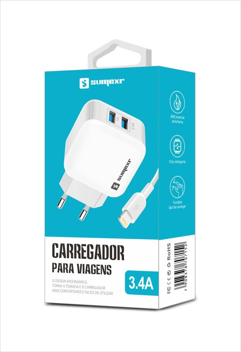 CARREGADOR PARA CELULAR IPHONE 3.4A