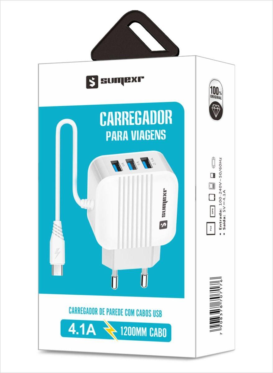 CARREGADOR PARA CELULAR TYPE-C 4.1A