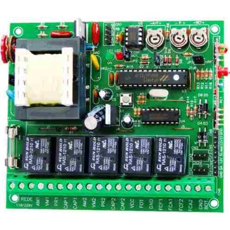 Central  Eletrônica Motor Portão Automático  Pivotante Duplo - 433Mhz – New Back