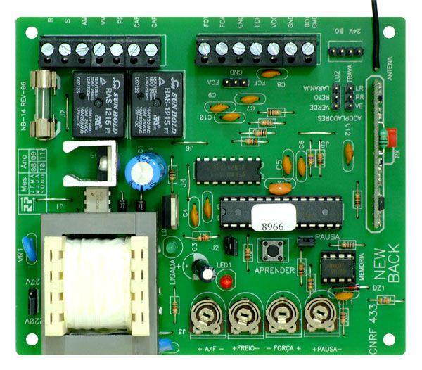 Placa Central Eletrônica Universal  Portão  Eletrônico Deslizante 433 MHZ