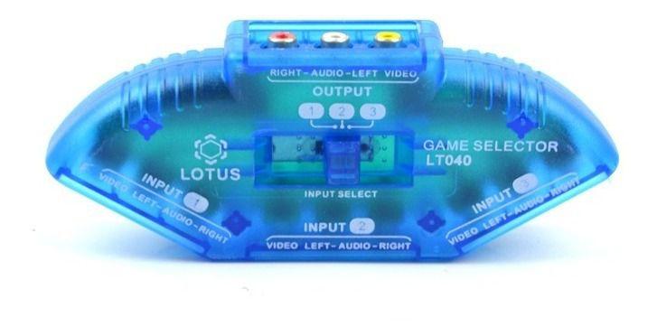 Chave Seletora  Áudio/Vídeo 3X1 - Lotus