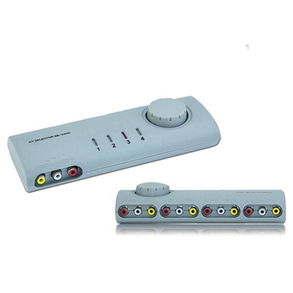 Chave Seletora Áudio / Vídeo 4 X 1 para Aparelhos com Entrada RCA