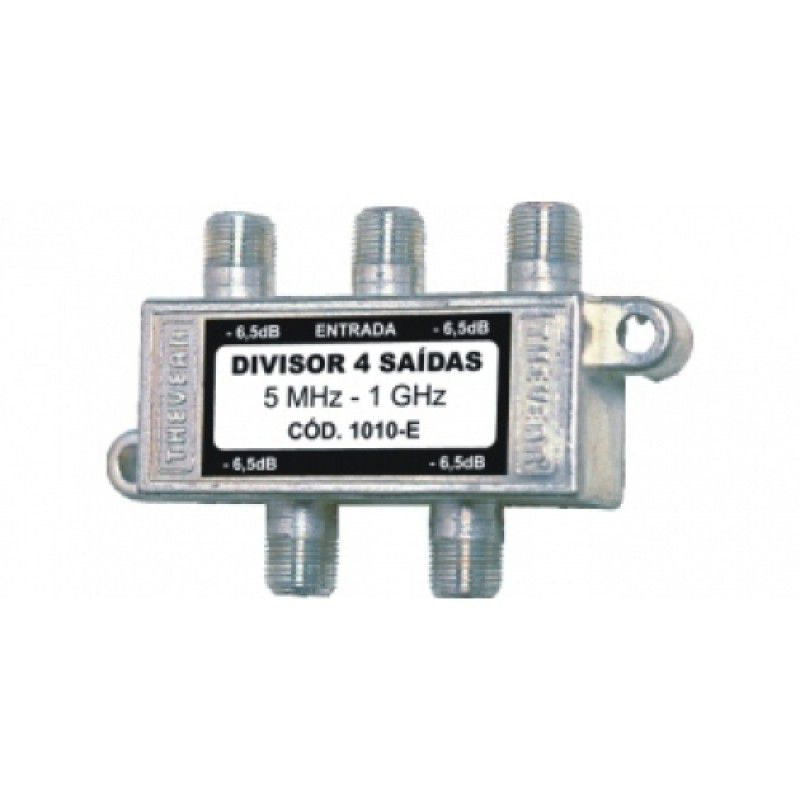 Divisor de Antena Digital 1:4 5-1000 MHZ