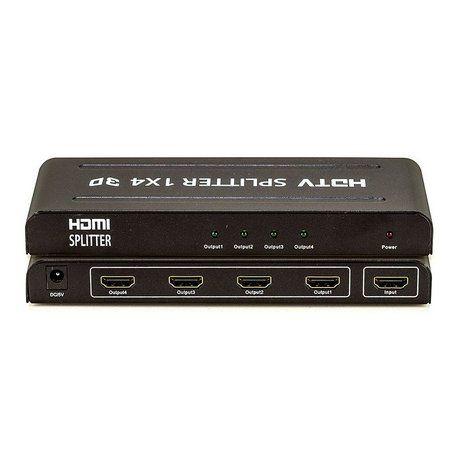 Divisor (Splitter) 1 Entrada HDMI - 4 Saídas HDMI