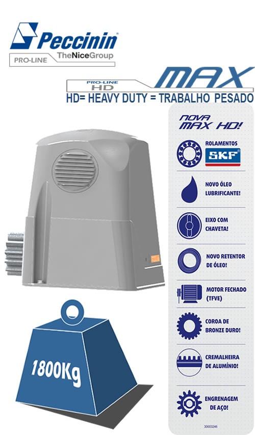 Kit Motor Portão Deslizante Max Peccinin 220V