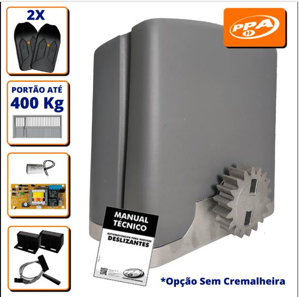 Kit Portão Eletrônico Deslizante PPA Jet Flex 400 - Bivolt S/C