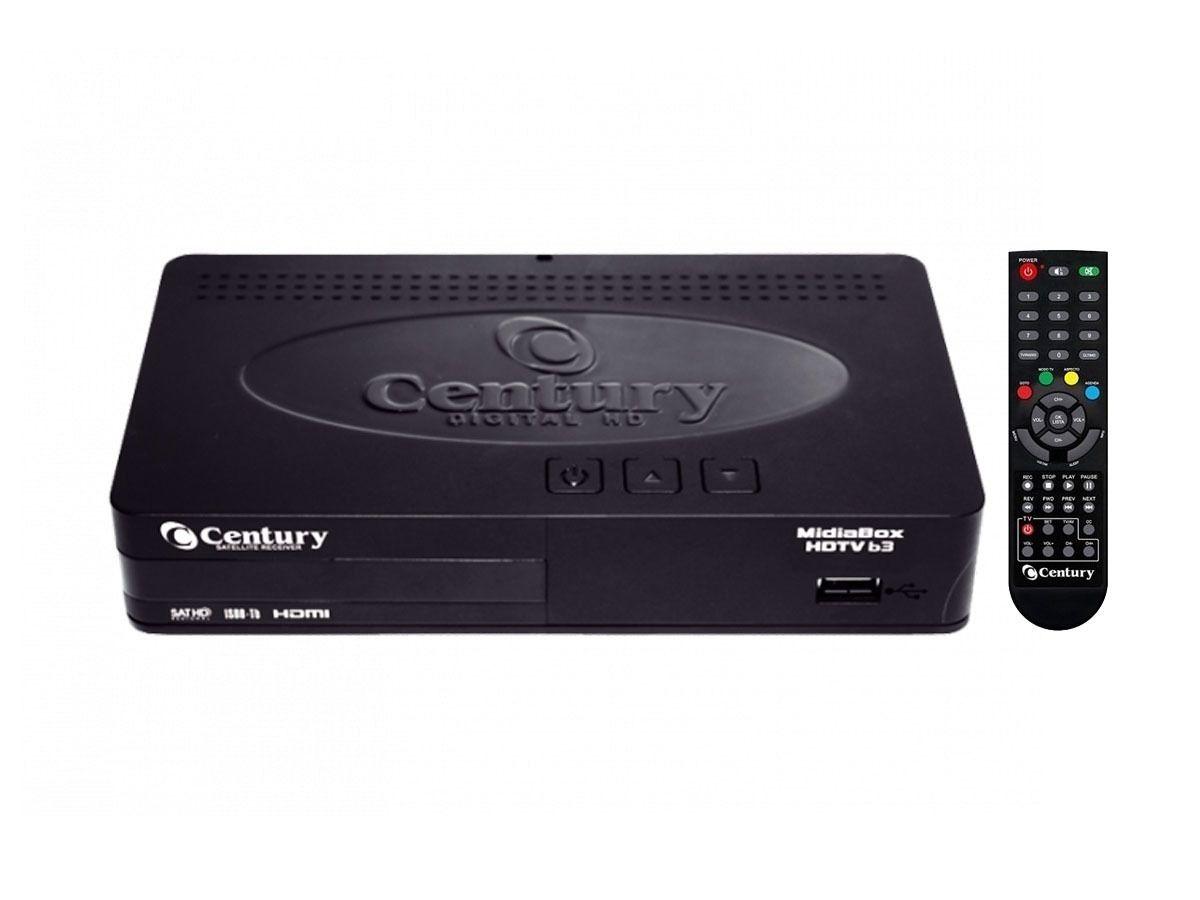 Receptor HDTV P/ Antena Parabólica Midia Box Century