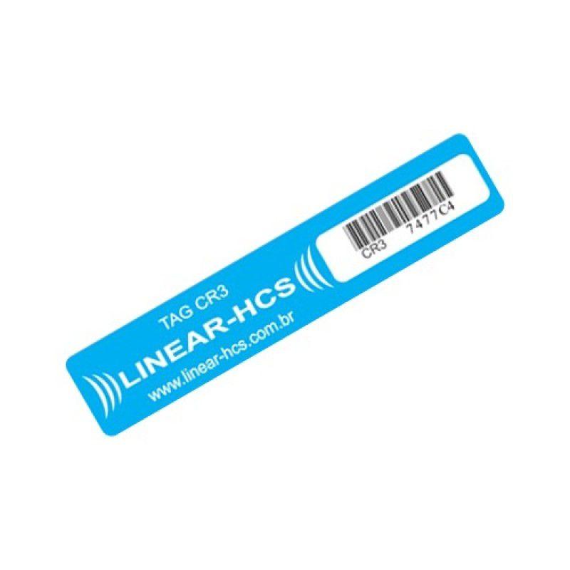 TAG Passivo Adesivo Linear- HCS (Etiqueta Azul)