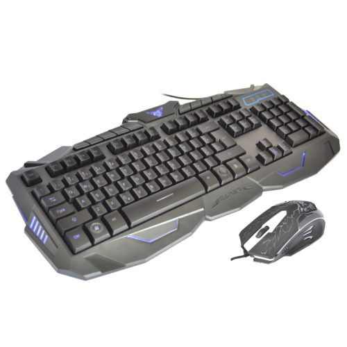 Teclado Gamer + Mouse USB Teclas Iluminadas V-100