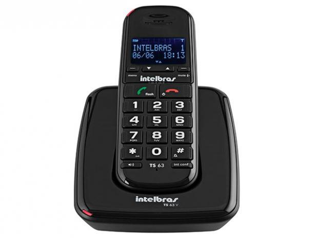Telefone Sem Fio  Intelbras TS63 V - Preto