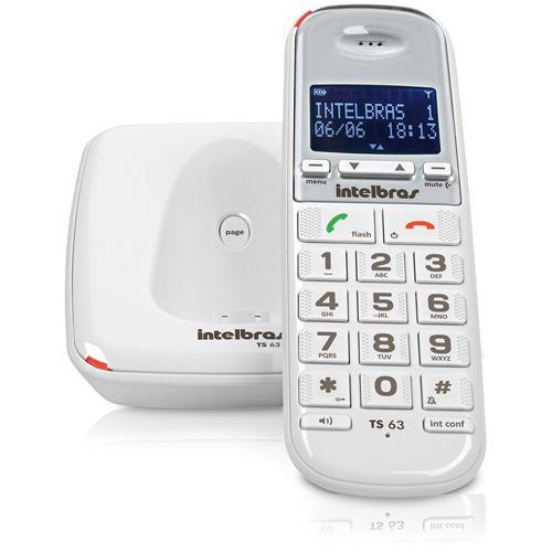 Telefone Sem Fio TS63 V Intelbras - Branco
