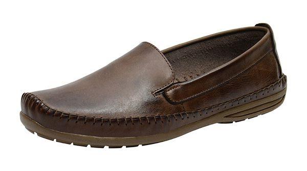 dbab86ceb68ea Sapato Casual Masculino Em Couro Café 760 - O Vendedor de Calçados