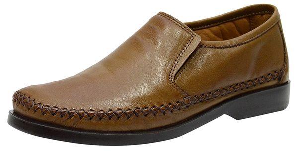 4b149c4286 Sapato Casual Masculino Em Couro Linha Conforto Whisky 753 - O ...