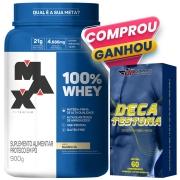 100% Whey Protein 900g Baunilha Max Titanium + Deca Testona