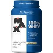 100% Whey Protein Concentrate 900g Baunilha Max Titanium