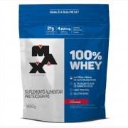 100% Whey Protein Refil 900g Morango Max Titanium
