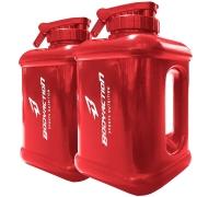 2x Galão Garrafa Água Bebida Academia 1,6 Litros Vermelho