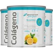 3x Colágeno Hidrolisado Peptídeos em Pó 200g Sabor Limão