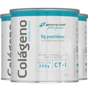 3x Colágeno Hidrolisado Peptídeos em Pó 200g sabor Natural