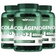 3x Colágeno Tipo 2 (CT-II) 40mg Com 60 Cápsulas Gelatinosas