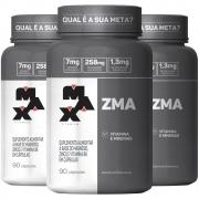 3x ZMA Aumento de Testosterona com 90 cápsulas Max Titanium