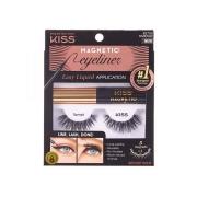 Cílios Magneticos com Delineador Kiss Magnetic Eyeliner k02