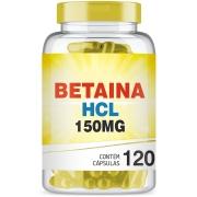 Cloridrato de Betaina HCL 150mg com 120 cápsulas