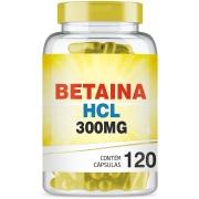 Cloridrato de Betaina HCL 300mg com 120 cápsulas