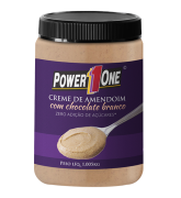 Creme de Amendoim com Chocolate Branco 1kg - Power 1 One