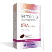 Feminis Com 30 Cápsulas Vitamina Gestante Selênio Omega 3