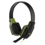 Headset Gamer Multilaser Earpad de Silicone P2 Preto Verde