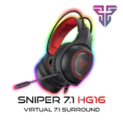 Headset Gamer Sniper 7.1 USB Iluminação RGB Fantech HG16