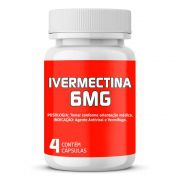 Ivermectina 6mg com 4 cápsulas